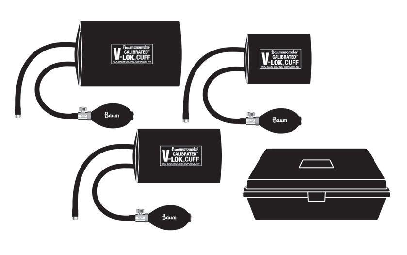 Pneumatic cuff Calibrated® V-Lok® W.A. Baum