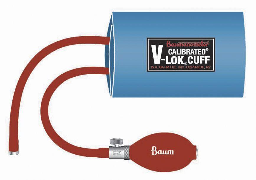 Pneumatic cuff Baum Calibrated® V-Lok® Series W.A. Baum