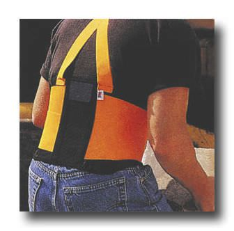 """Lumbar support belt / with suspenders High Visibiility 9"""" WNL Products"""