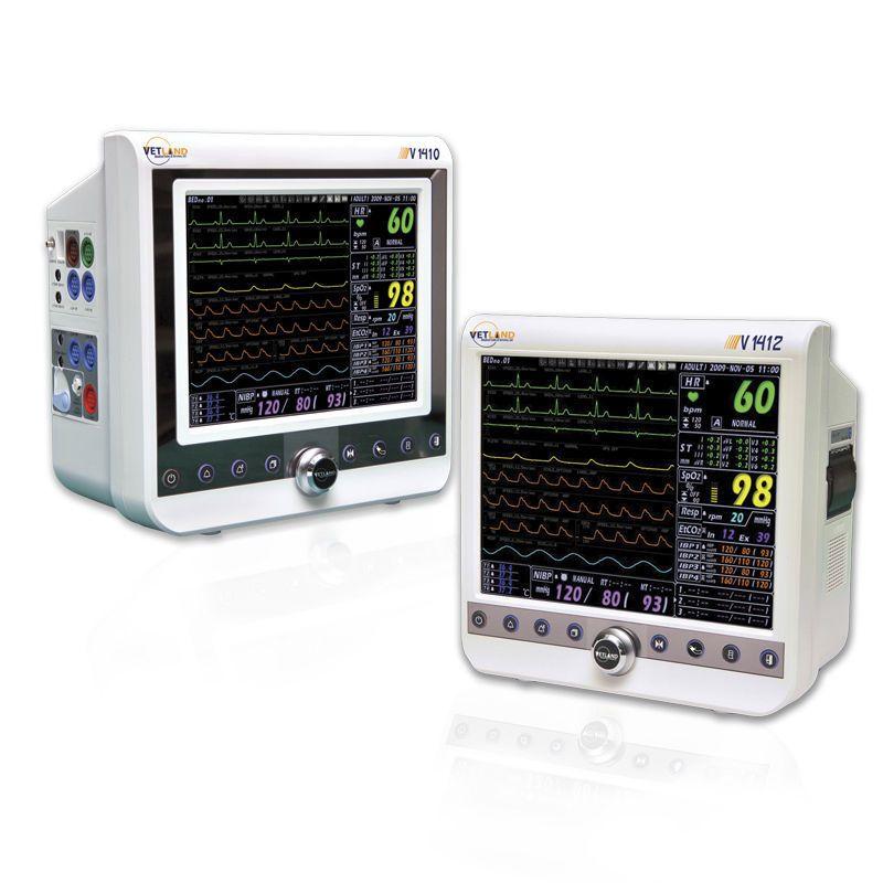 RESP multi-parameter monitor / ECG / NIBP / compact 1410 / 1412 Vetland Medical