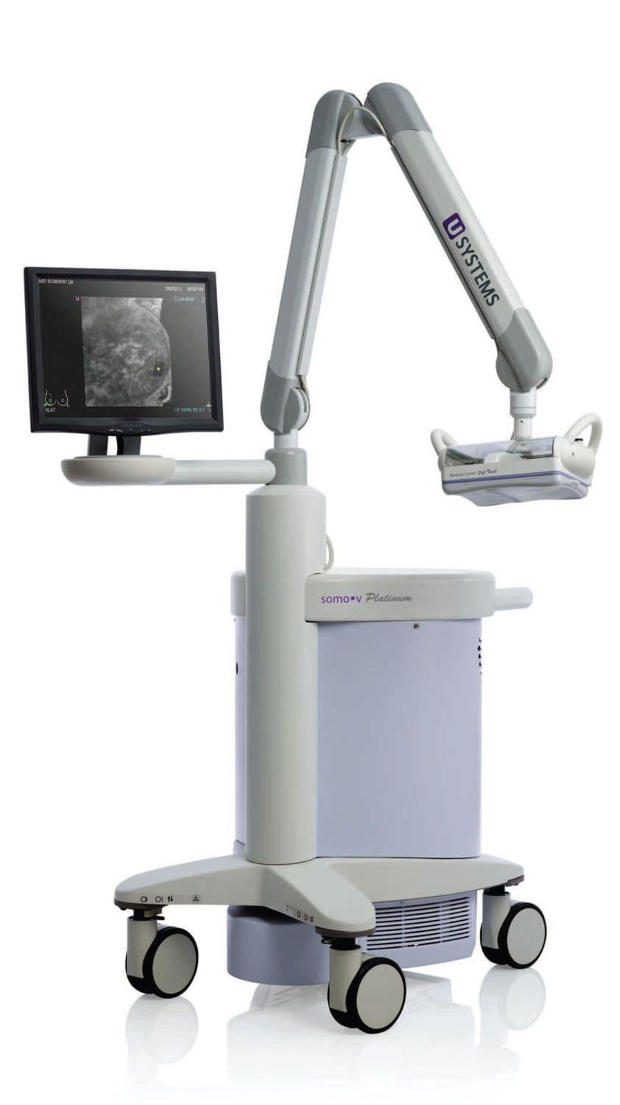 Ultrasound system / on platform / for breast ultrasound imaging somo?v ABUS Platinum U-Systems