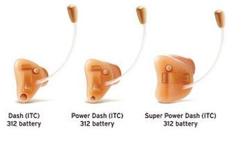 The canal (ITC) hearing aid Dash series Interton