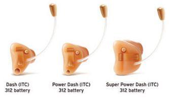 The canal (ITC) hearing aid Dash series Interton