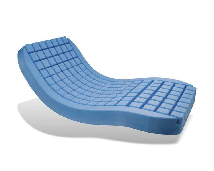 Anti-decubitus mattress / for hospital beds / foam / waffled P101M / POLYPLOT® SYST'AM
