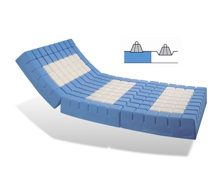 Anti-decubitus mattress / for hospital beds / foam / waffled P141M / POLYMULTI® SYST'AM