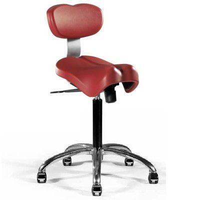 Medical stool / height-adjustable / on casters / saddle seat StingST TECNODENT