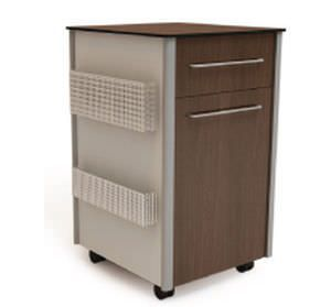 Bedside table / on casters / with refrigerator compartment SMP-306M-BSC, SMP-310N-BSC SMP CANADA