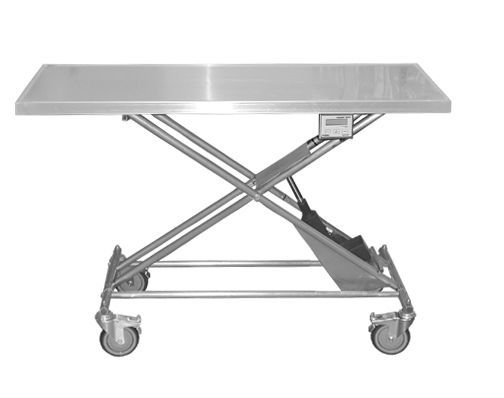 Electric veterinary transport table with weighing scale Electric Transport Table With Scale Technidyne