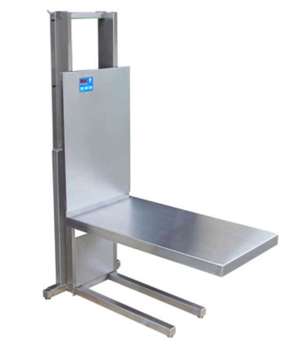 Wall-mounted veterinary lift table for dental examinations Elsam III Peninsula Technidyne