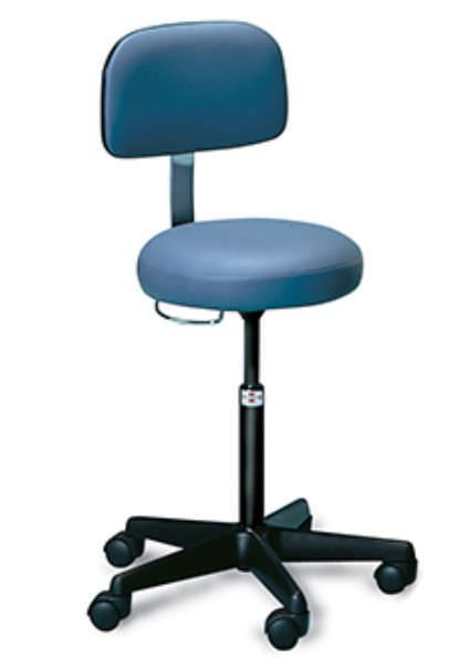 Medical stool / height-adjustable / on casters / with backrest 2123 Hausmann
