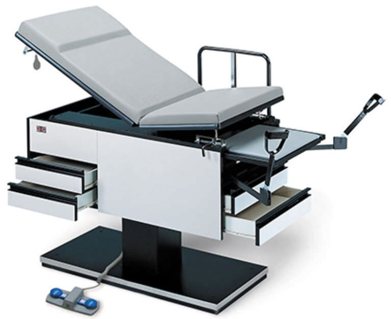 Gynecological examination table / electrical / height-adjustable / 2-section 4440, 4445 Powermatic® Hausmann