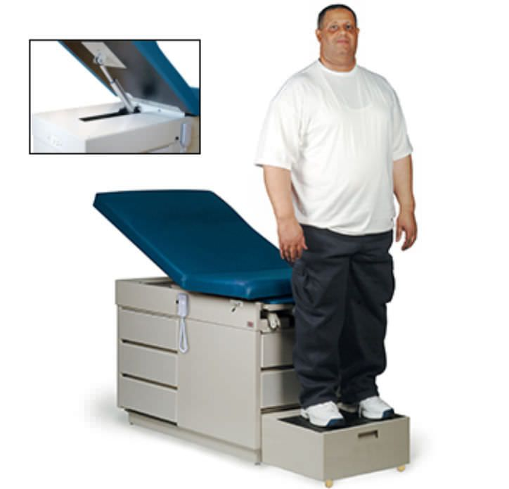 Bariatric examination table / electrical / height-adjustable / 2-section 4416 X-L Hausmann