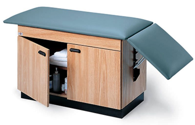 Fixed examination table / 2-section / with storage unit 4143 Hausmann