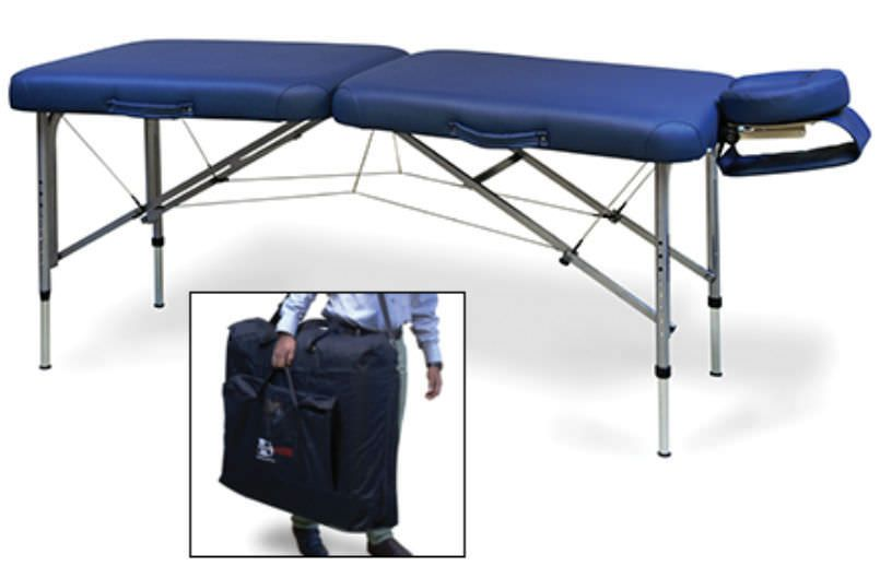 Manual massage table / portable / height-adjustable / folding 7604-752 Hausmann