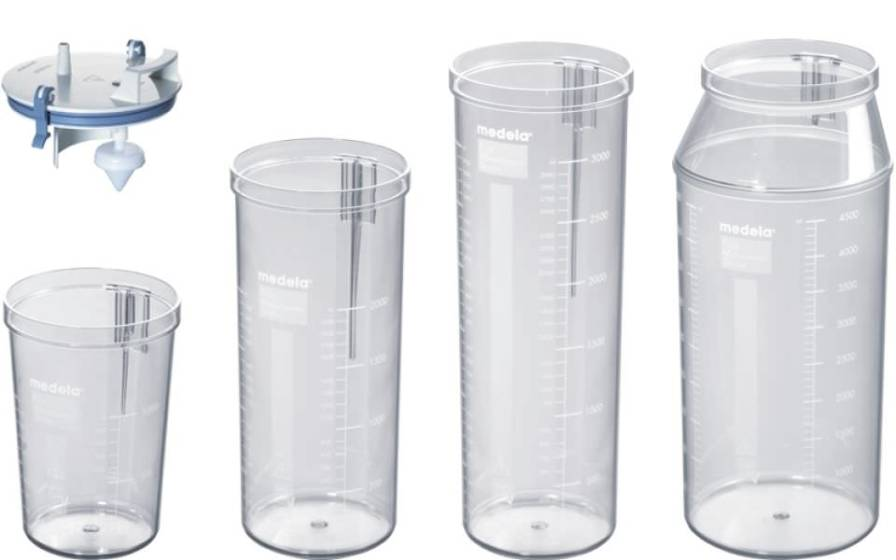 Medical suction pump jar / suction polysulfonate 1 - 5 L Medela AG, Medical Technology