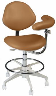 Dental stool / on casters / height-adjustable / with armrests Deluxe Assistant's Summit Dental Systems