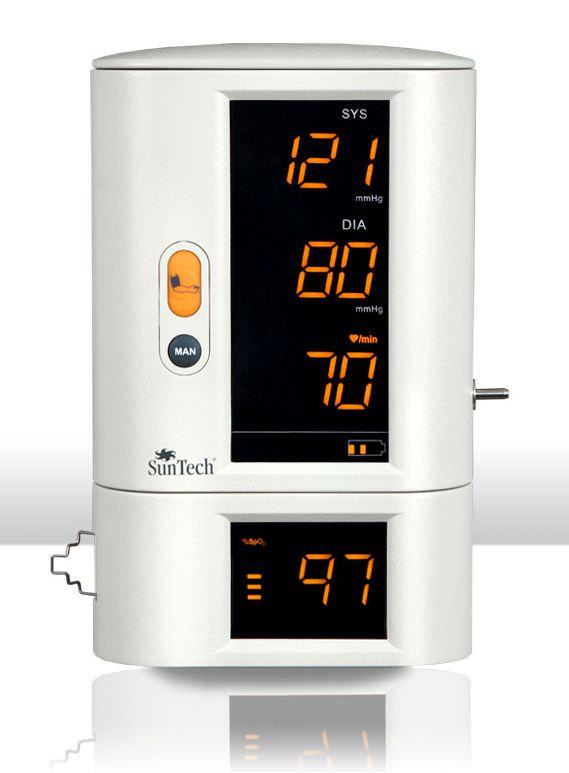NIBP vital signs monitor / SpO2 / TEMP / modular 140 - 180 mmHg, 30 - 200 bpm, 40 - 100 % SpO2 | SunTech 247 SunTech Medical