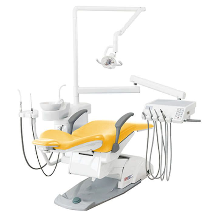 Dental unit with lamp / with motor-driven chair AM6015 Suzhou Victor Medical Equipment