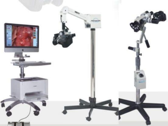 Binocular colposcope / video / mobile / with video monitor SRW668 Sunray Medical Apparatus