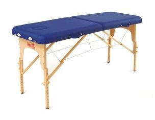 Manual massage table / portable / height-adjustable / folding Sissel
