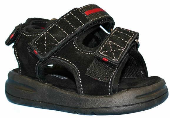 Pediatric cast shoe Black Sandal SureStep