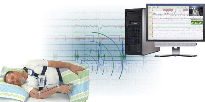 Ambulatory polysomnograph / with EEG / video SOMNOscreen™ plus PSG SOMNOmedics