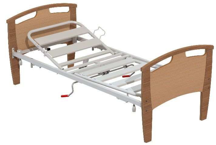 Mechanical bed / height-adjustable / 2 sections inn Sotec Medical