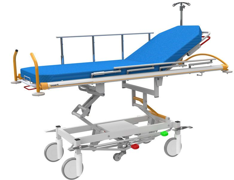 Transport stretcher trolley / height-adjustable / hydraulic / 2-section Alu Roll Sotec Medical