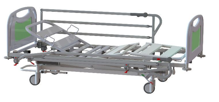 Electrical bed / height-adjustable / 4 sections Bering Sotec Medical