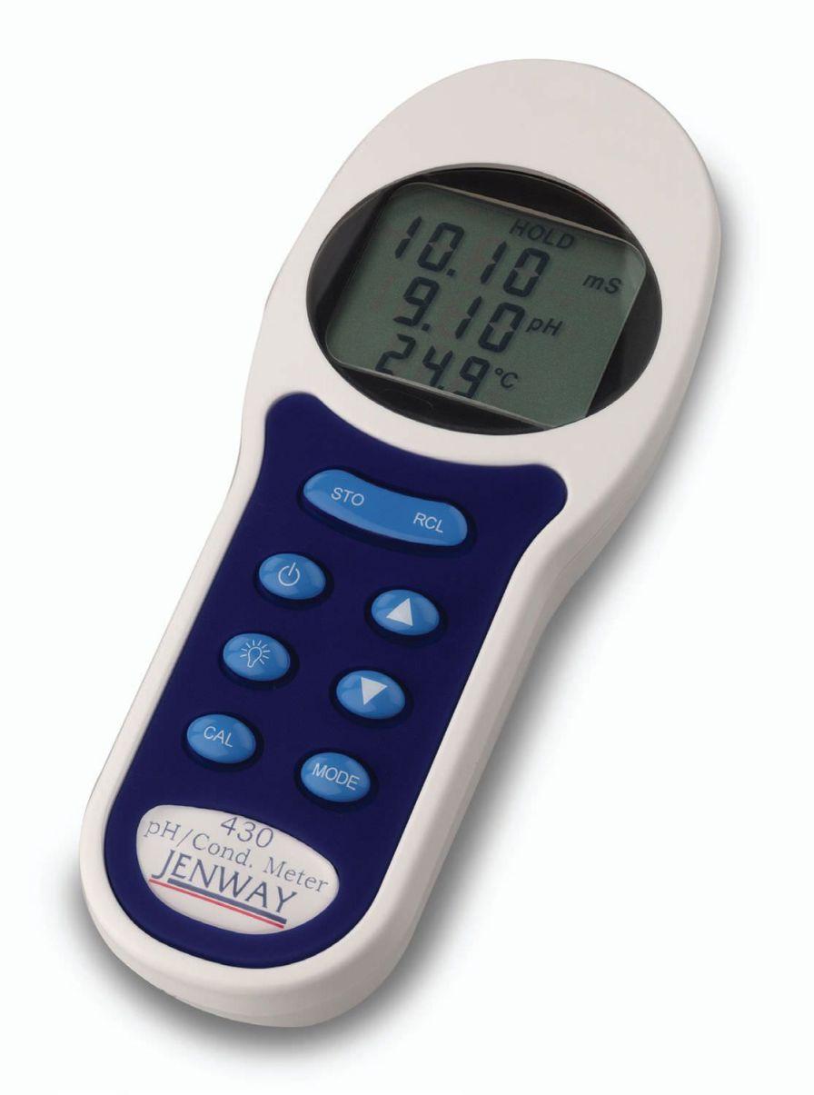 Laboratory pH meter / portable / with conductivity meter 0 pH ... 14 pH, 0 - 199.9 mS   430 Jenway