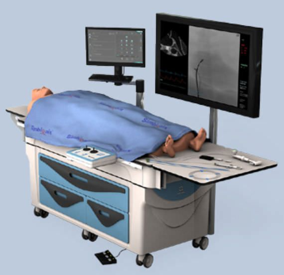 Cardiovascular catheterization simulator ANGIO Mentor™ Suite Simbionix