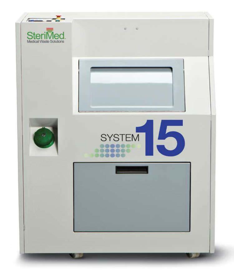 Waste treatment system with shredder / medical SYSTEM 15 Sterimed