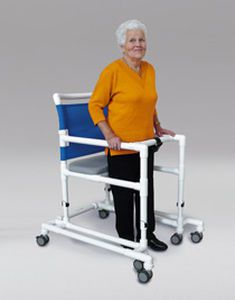 6-caster rollator / height-adjustable / with seat THE RCN WALKER RCN MEDIZIN