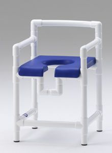 Shower stool with cutout seat / with armrests DH 90 PP RCN MEDIZIN