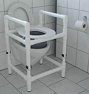 Height-adjustable raised toilet seat / with armrests DT 100 HM RCN MEDIZIN
