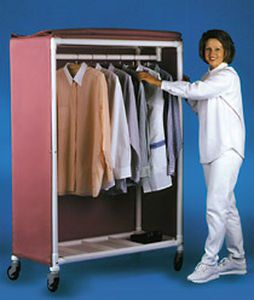 Medical cabinet / linen / for healthcare facilities / with hanging rack GR 50 RCN MEDIZIN