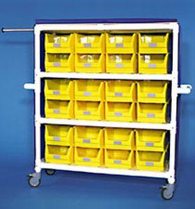 Storage cart / linen / with bin / 3-shelf WT 424 KS RCN MEDIZIN