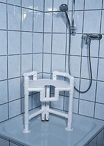 Shower stool with cutout seat / with armrests DWH 86 RCN MEDIZIN