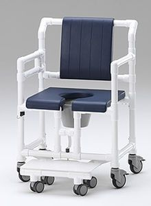 Commode chair / shower / with bucket / on casters SCC 250 OS PPG RCN MEDIZIN