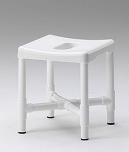 Shower stool with cutout seat DH 49 RCN MEDIZIN