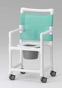Shower chair / with bucket / on casters SCC 250 RCN MEDIZIN