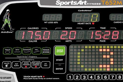 Treadmill with handrails T652M SportsArt Fitness