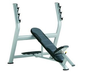 Weight training bench (weight training) / traditional / inclined / with barbell rack A998 SportsArt Fitness