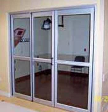Laboratory door / hospital / swinging / with glass panel ICU/CCU 7600 Stanley Access Technologies