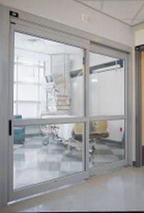 Hospital door / laboratory / sliding / with glass panel ICU/CCU 7000 Stanley Access Technologies