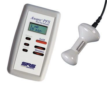 Electro-stimulator (physiotherapy) / hand-held / perineal electro-stimulation / 1-channel AWARE™ PFS SRS Medical