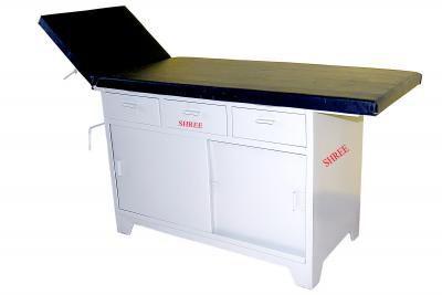 Fixed examination table / 2-section 92X4 Shree Hospital Equipments