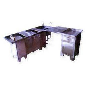 Autopsy table / L-shaped / with sink SP-101-Deluxe Span Surgical