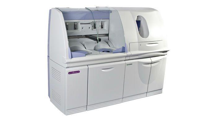 Automated biochip immunoassay analyzer / multiplexing 1200 tests/h   Evidence Randox Laboratories