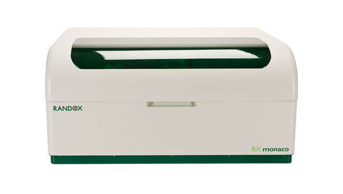 Automatic biochemistry analyzer / bench / random access / veterinary 170 tests/h   RX Monaco Randox Laboratories